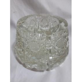 Deco - Cenicero Vintage De Cristal Tallado 12 Cm Retro