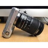 Cámara Sony Nex Con Adaptador Lentes Canon Lente 18-55