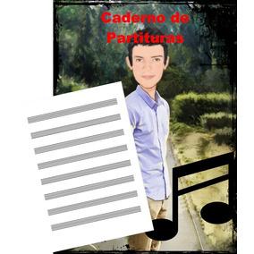 Kit 10 Caderno Música Partitura 30 Pag Tamanho A4