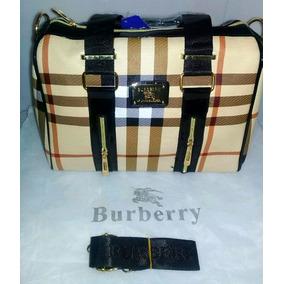 Bolsa Para Dama Burberry Beige/negro