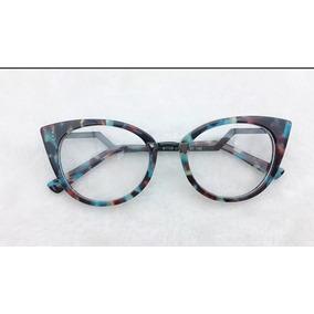 Armacao De Oculos Grau Estilo Gatinho Azul - Óculos no Mercado Livre ... 4b63f9d7c7