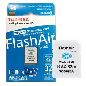 Cartão De Memória Toshiba Wifi 32gb Classe 10 W-03 Flashair
