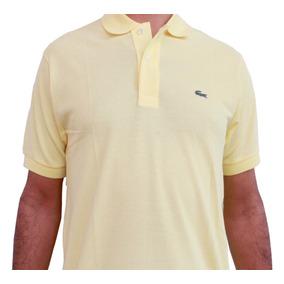 Polo Lacoste L1212 Classic Fit En Color Amarillo