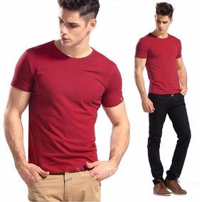 Kit Com 03 Camisa Slim Fit Camiseta Básica Lisa - Ref 107
