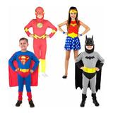 Disfraz Batman Superman Flash Mujer Maravilla - Mundo Manias