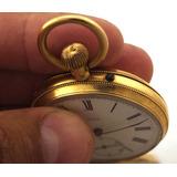 Relógio De Bolso Legítimo Ancre Nº8119 Em Ouro 18k J20014