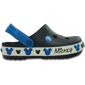 Zapato Crocs Infantil Crocband Mickey Iv Clog K Azul