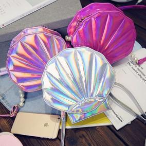 Bolsa Concha Holografica Kawaii -solo Rosa Disponible-