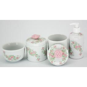 197368f42 Kit Higiene Bebe Porcelana Floral - Banho e Higiene no Mercado Livre ...