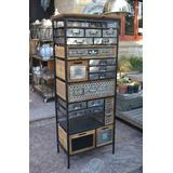 Mueble Cajonera Fichero Estilo Industrial Nuevo 156x53x33cm