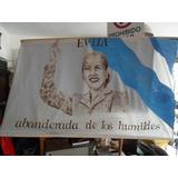 Bandera De Evita Pintada A Mano 146 X 0.95