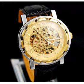 b0daa1bd5ea Relógio Winner Automático Barato Promoção Dourado Luxo