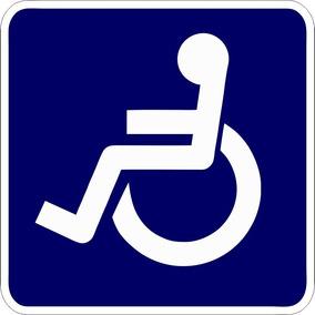 5 Adesivos Deficiente Físico Cadeirante 8x8 Cm Para Van