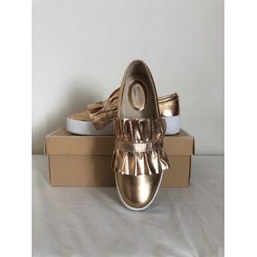 Zapatos Michael Kors Bella Slip On Dorado 8.5us5.5mx Seminie
