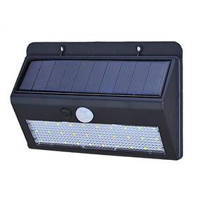 Luminária Parede Solar 30 Leds Bateria Luz Balizador Jardim