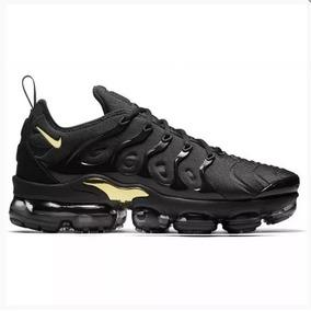 Tênis Nike Vapormax Plus,original Preto/dourado,envio Rápido