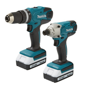 Kit Makita Atornillador Y Rotomartillo Inalámbrico Dk18015x2