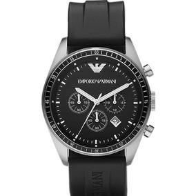 c46e03d948f Relógio Emporio Armani Ar0527 Preto Prata Novo Sem Caixa