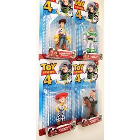 4 Bonecos Toy Story Buzz Lightyear Woody Jessie Bala No Alvo