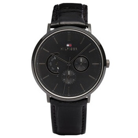 Relógio Tommy Hilfiger Masculino Couro Preto - 1710378