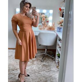 Vestido Luxo Midi Moda Evangélica Feminino Pront Entreg
