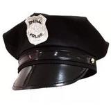 Chapéu Boina Quepe Policial + Algema Festa Fantasia Cosplay 0a7a43144a0