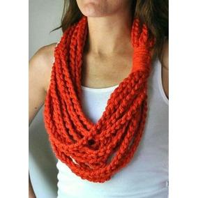 Bufanda O Cuello Cadenas Crochet