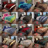 Cobertor Con Borrega Matrimonial,super Grueso,varios Modelos