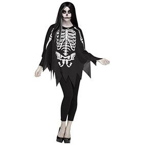 Poncho De Esqueleto Para Mujeres Fun World , Multi, Estandar