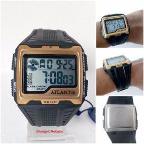 Relógio Masculino Atlantis Digital Quadrado Original 12x S/j
