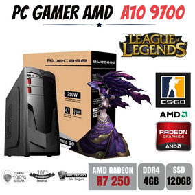 Pc Gamer Amd A10 9700 4gb Ddr4 Ssd120gb Gtx 1050 2gb 128bits