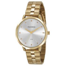 Relógio Mondaine Feminino Strass Dourado 53659lpmvde1