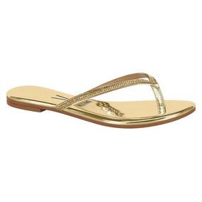 fefd6e72b2 Sandalia Rasteira Vizzano Metalizada - Sapatos Dourado no Mercado ...