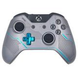 Control Xbox One Verde Halo 5 Guardians Plateado. Original.