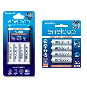Cargador + Baterías Eneloop Recargable K-kj51mcc4as + Pilas