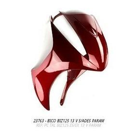 Bico Frontal Biz125 2013 Vermelho S/adesivo + Brinde