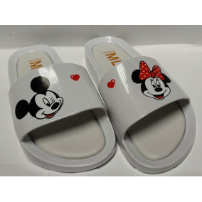 Chinelo Melissa Beath Slide Mickey Minnie