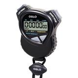 Oslo Cronómetro Con Temporizador De Cuenta Regresiva, Negro