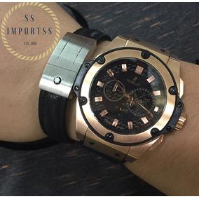 d091b0dac0e Relógio Dourado Masculino - Relógio Hublot Masculino no Mercado ...