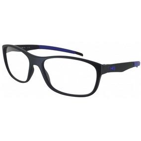 Armação Oculos Grau Hb Polytech 9313471033 Preto Fosco Azul 0d705f57e0