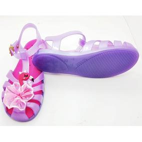 Sandalia Infantil Feminina Plastico Flamingo Princesa Moda