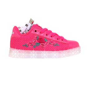 Zapatillas Addnice Moda Led Usb Rosas Junior Niña Fu/fu