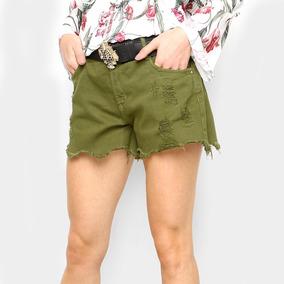 Short Jeans Lança Perfume Slim Comfort Feminino