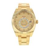 Nuevo Rolex Sky Dweller 18k Oro Amarillo Reloj Para Hombre 3