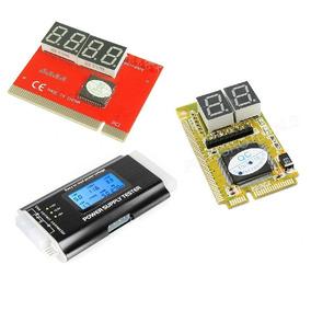 Kit Placa Diagnostico Pc + Notebook + Testador Den Fonte Atx