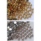 Meia Perola Chatom Dourado Ou Prata (4mm) 10pcts 50gr Total