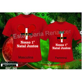 Kit Camisetas Personalizadas Namorados Casal Amor 1ª Natal