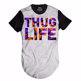 Camisa Oversized Hip Hop Longlinethug Life Swag Camiseta Usa fc7b7d468a1