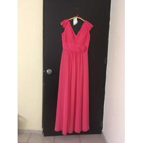 4f8264fae Vestido Dama Coral Largo De Vestir Cuello Y Espalda V Escote