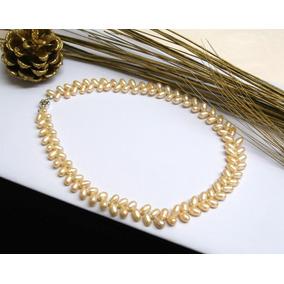 3f2a7f2cbba2 Collar Largo Perlas De Río Auténticas Forma De Trigo